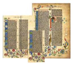 Kolekce diářů, adresářů a zápisníků Paperblanks Gutenberg Bible