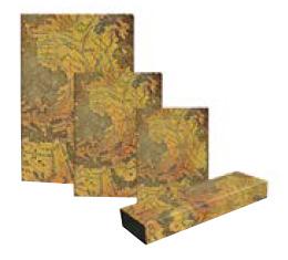 Kolekce diářů, adresářů a zápisníků Paperblanks Hunt-Lenox Globe