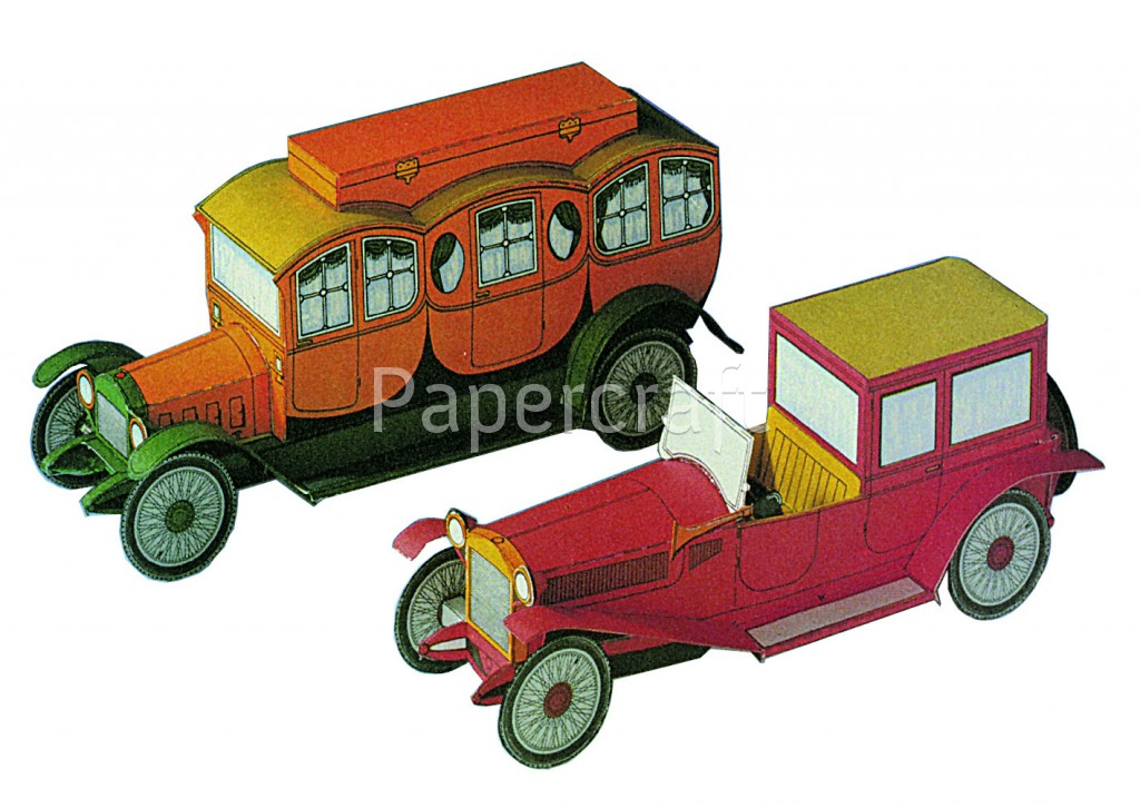 Pap rov modely vyst ihov nky lancia lambda a touring for Papercraft lancia