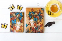 Paperblanks zápisník Madame Butterfly Flexis mini linkovaný 6527-2