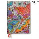 Diář Paperblanks 2019 Flutterbyes